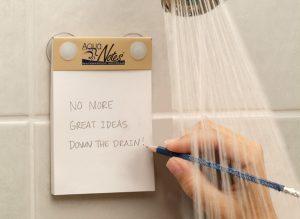Inspiratie onder de douche