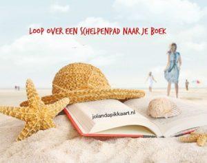 Loop over een schelpenpad naar je boek