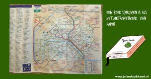 Boek schrijven is als metronetwerk Parijs