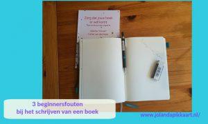 3 beginnersfouten bij het schrijven van een boek