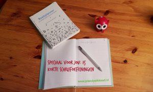 15 korte schrijfoefeningen