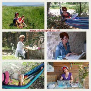 Schrijfvakantie in je eigen tuin of op balkon