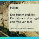 Schrijfoefening: Schrijf een haiku