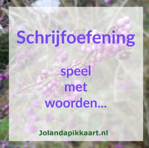 Schrijfoefeningen JolandaPikkaart.nl
