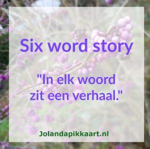 Schrijfoefening Six word story