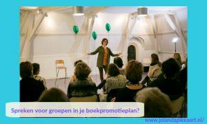 Spreken voor groepen in je boekpromotieplan? Jacqueline Hulleman