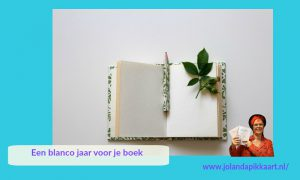 Een blanco jaar voor je boek